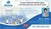 Allstate Insurance Agent - Terri L. Olsen