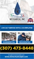 C K Mechanical Plumbing & Heating Inc